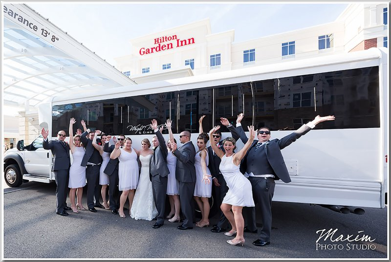 The Eisenhardt Glavin Wedding Party Outside Their Bus Al